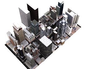3D New York City Low Poly