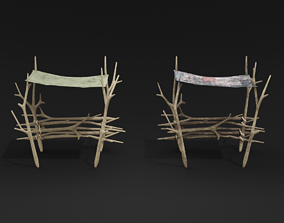 Forest tent awning 3D model