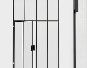 3D asset Glass partition door 103