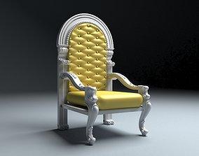 King Throne 4 monarch 3D model