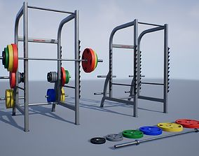 Squat Rack 3D asset