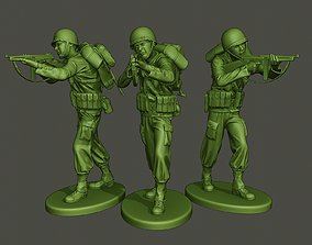 American soldier ww2 Shoot Stand 3D printable model