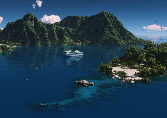Green island in Vue
