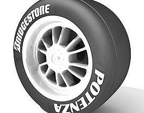 Potenza Bridgestone tire 3D