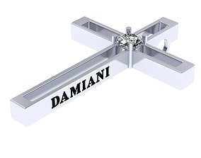 3D printable model Damiani cross with 4mm diamond