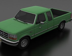 3D model game-ready F-150 Pickup 1992 SuperCab Short Box