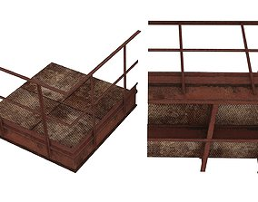 3D model Industrial Platforms Stairs 01 Set PCenter 01 02