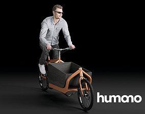 3D model Humano Biking Woman 0710