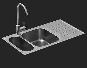 3D asset BOHOLMEN Sink and RINGSKAR faucet