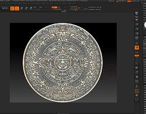 Aztec calendar-3d print