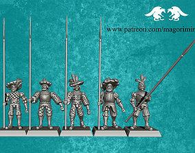 3D printable model Landsknecht defenders pack