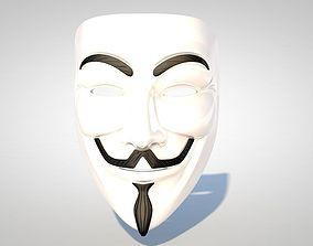 3D model Guy Fawkes Mask