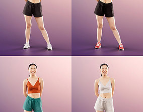 3D 11361 Anita - 4 Texturevariations Sporty Asian Woman