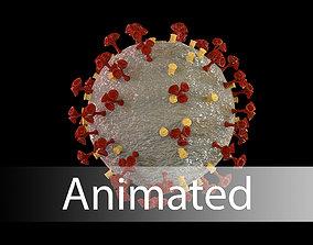 animated realtime Corona virus 3d model Realistic Model