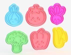 Vegetables cookie cutter set of 6 3D printable model