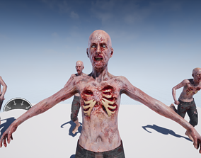 Zombie 3D asset animated game-ready