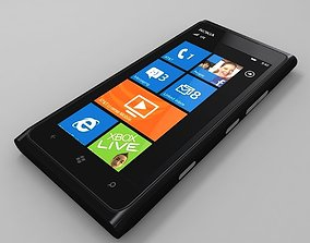 3D model Nokia Lumia 900 black