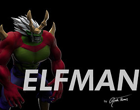 fairy tail elfman strauss anime 3d model