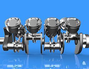 V8 Engine Crankshaft 3D print model