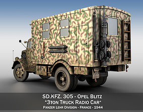 Opel Blitz - 3t Truck with Radiokoffer 3D