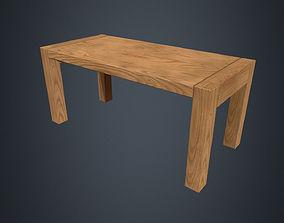 3D asset Wooden Table - Beech Table - Beech Furniture - 1
