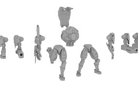 3D print model 28mm Sci-Fi Close Comat Mech