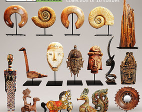Figurines collection statues set 3D