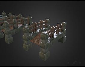 Bridge low poly handpainted 3D asset