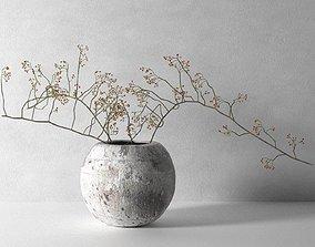 Vase with Rose Hip 3D