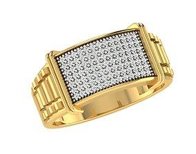 3D print model silver Male ring