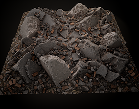 Debris Piles Gameready 3D model