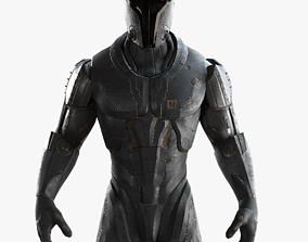 3D model Sci-Fi Soldier Rigged
