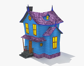 Cartoon home 3D asset