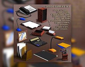 Office Supplies Set 3D asset