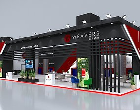 Exhibition Stand 26x10m Height 500 cm 2 Side Open 3D 1