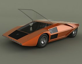 3D Lancia Stratos Zero Concept