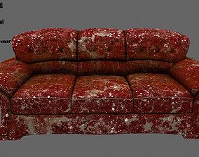 3D asset low-poly Armchair settee