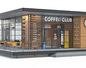 Coffee shop building 3D