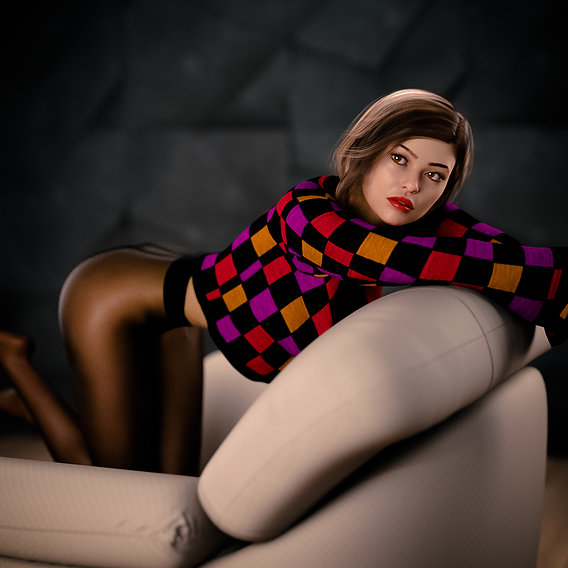 The girl in the chair
