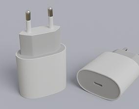 3D IPhone power adapter USB-C 20W
