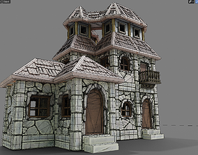game-ready stone house4 Low-poly 3D model