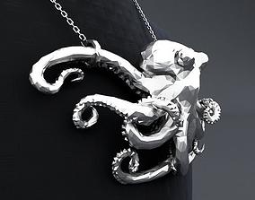 Polygon Octopus Pendant 3D printable model