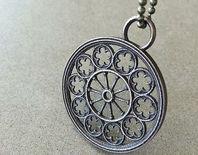 3D printable model Rose Window Pendant