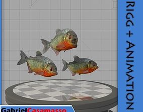 Piranha 3D animated