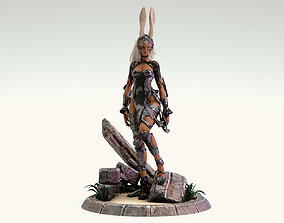 3D model Final Fantasy - Fran Character plus Stand