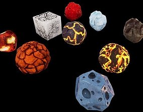 3D model Meteorites Asteroids