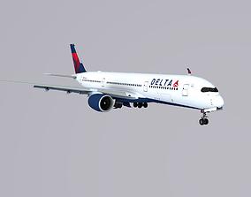 3D asset A350-900 Delta