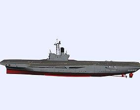 3D model ARA 25 de Mayo Aircraft Carrier