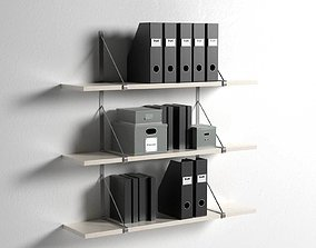 3D Ekby Gallo Wall Shelves with Office Organizers