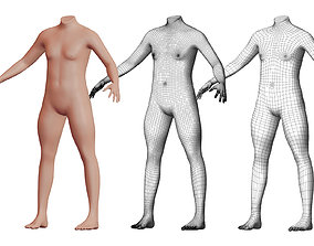 Character 50 High and Low-poly - Body 3D model